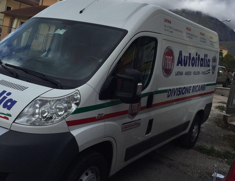 autovetture e furgone per il Comune