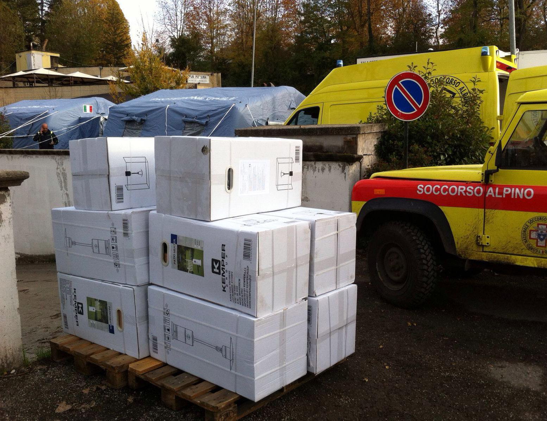 Consegna funghi per riscaldamento a Norcia